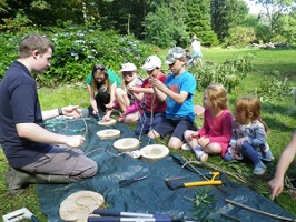 Outdoor environmental activity with children