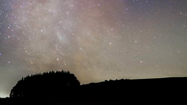 starscape over siblyback lake