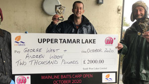 West and Woon Win £2000 at Upper Tamar's Mainline Carp Open